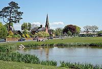 Village pond at Wray Green, Lancashire.