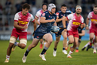 4th June 2021; AJ Bell Stadium, Salford, Lancashire, England; English Premiership Rugby, Sale Sharks versus Harlequins; Curtis Langdon of Sale Sharks is chased by Archie White of Harlequins