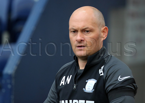 31st October 2020; Deepdale Stadium, Preston, Lancashire, England; English Football League Championship Football, Preston North End versus Birmingham City; Preston North End manager Alex Neill emerges from the tunnel prior to the kick off