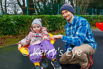 Enjoying the playground in Killarney National park on Friday, l to r: Cara and Conor McElroy