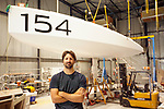 Preparation of the Lift 40 ( Class 40 ) for the skipper Yoann Richomme before the Route du Rhum 2018 at Gepeto Composite.<br />Gepeto Composites capitalising on their expertise in composite boat building for high-tech racing yachts.<br />Gepeto Composites is based in Lorient Keroman Submarine Base, Brittany, France.