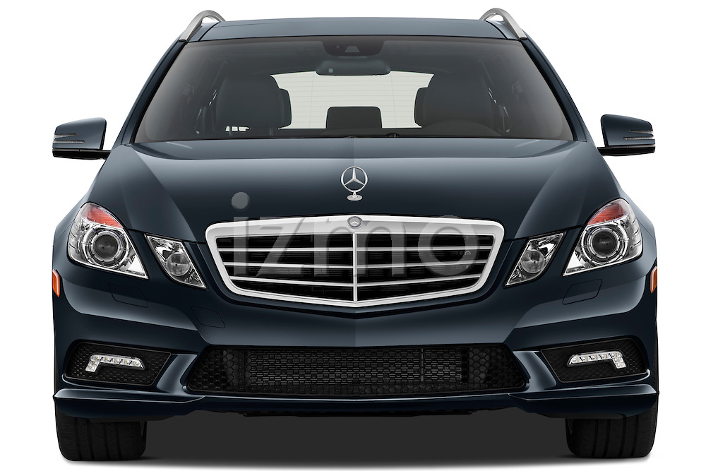 Straight front view of a 2011 Mercedes E350 4Matic Wagon