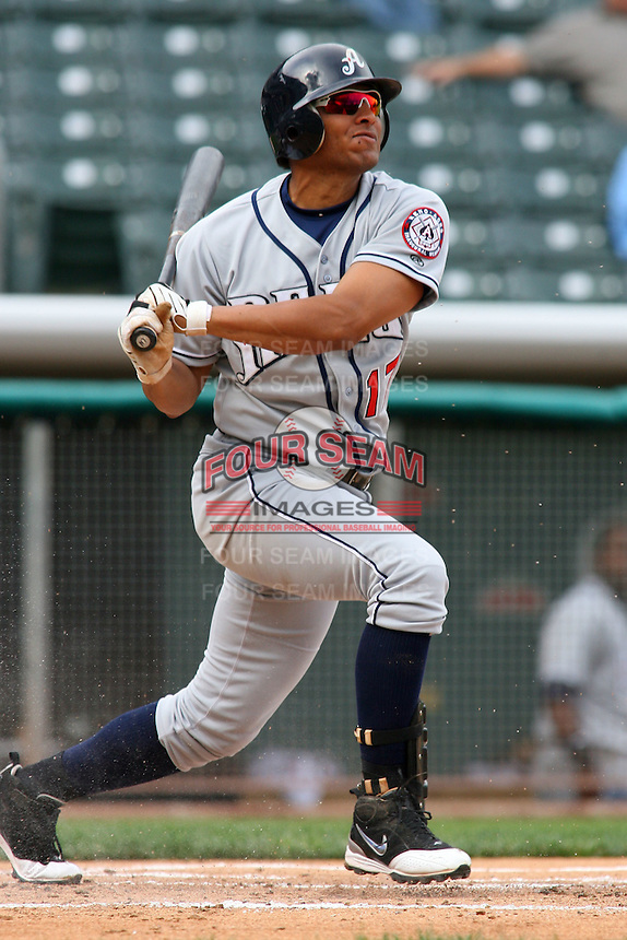 May 30, 2009:  Alex Romero of the Reno Aces, Pacific Cost League Triple A affiliate of the Arizona Diamondbacks, during a game at the Spring Mobile Ballpark in Salt Lake City, UT.  Photo by:  Matthew Sauk/Four Seam Images