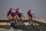 Rabobank Cycling Team led by Mark Renshaw (AUS) in action during the 2nd Stage of the 2012 Tour of Qatar an 11.3km team time trial at Lusail Circuit, Doha, Qatar. 6th February 2012.<br /> (Photo Eoin Clarke/Newsfile)