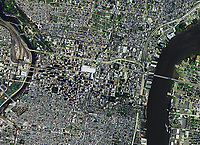 aerial photo map of Philadelphia, PA, 2017
