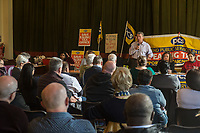 A rally organised by the PCS Trade Union in support of workers at the Ealing Tax Office which is threatened with closure. 10-4-19