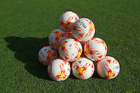 Match balls on the pitch during Stevenage vs Carlisle United, Sky Bet EFL League 2 Football at the Lamex Stadium on 22nd October 2016