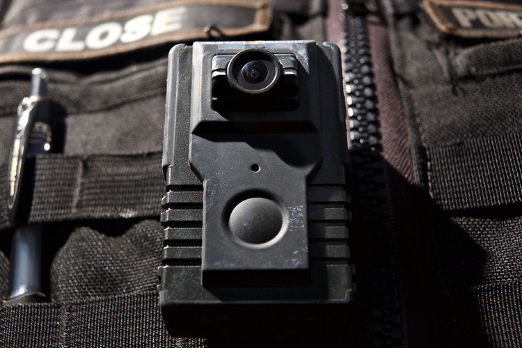 Currently there are only a few Portland Police Bureau Officers that carry a body camera while on patrol.<br /> Photo by Jaime Valdez