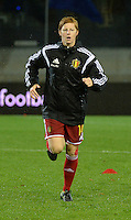 20151130 - LEUVEN ,  BELGIUM : Belgian Lien Mermans pictured during the female soccer game between the Belgian Red Flames and Serbia , the third game in the qualification for the European Championship in The Netherlands 2017  , Monday 30 November 2015 at Stadion Den Dreef  in Leuven , Belgium. PHOTO DIRK VUYLSTEKE