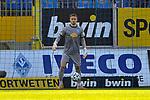 Waldhofs Jan-Christoph Bartels (Nr.23) am Ball beim Spiel in der 3. Liga, SV Waldhof Mannheim - 1. FC Magdeburg.<br /> <br /> Foto © PIX-Sportfotos *** Foto ist honorarpflichtig! *** Auf Anfrage in hoeherer Qualitaet/Aufloesung. Belegexemplar erbeten. Veroeffentlichung ausschliesslich fuer journalistisch-publizistische Zwecke. For editorial use only. DFL regulations prohibit any use of photographs as image sequences and/or quasi-video.