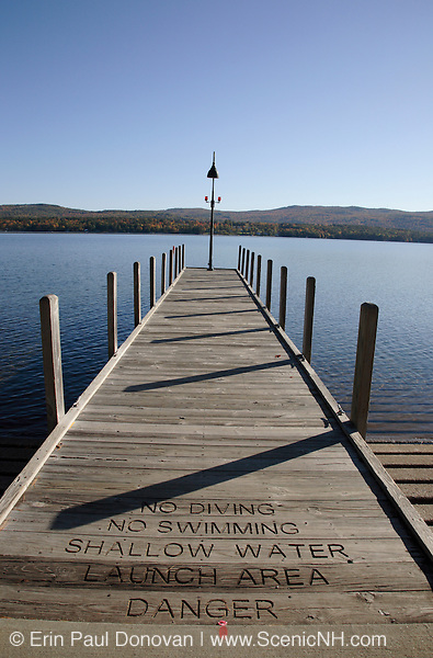 Wellington State Park - Newfound Lake during the autumn months.. Located in Bristol, New Hampshire USA