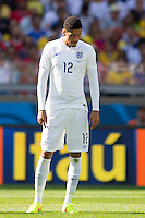 Chris Smalling of England looks dejected