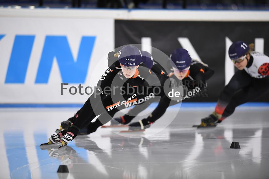 SCHAATSEN: HEERENVEEN: 13-12-2020, IJsstadion Thialf, Shorttrack, NK Shorttrack Afstanden, Gioya Lancee, ©foto Martin de Jong