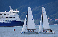 CentrePort Youth International Match Racing Championships in Wellington, New Zealand on Thursday, 25 March 2021. Photo: Dave Lintott / lintottphoto.co.nz