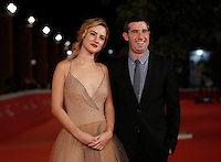 "L'attrice Grace Van Patten ed il regista Adam Leon posano sul red carpet per la presentazione del film ""Tramps"" al Festival Internazionale del Film di Roma, 16 ottobre 2016.<br /> Actress Grace Van Patten and director Adam Leon pose on the red carpet to present the movie ""Tramps"" during the international Rome Film Festival at Rome's Auditorium, .<br /> UPDATE IMAGES PRESS/Isabella Bonotto"