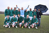 Lockers players pose for a team photograph before the kick-off - Delta (blue/black) vs Lockers - Hackney & Leyton Sunday League Football at East Marsh, Hackney - 21/02/10 - MANDATORY CREDIT: Gavin Ellis/TGSPHOTO - Self billing applies where appropriate - Tel: 0845 094 6026