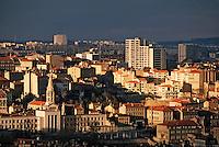 Europe/France/Rhône-Alpes/69/Rhône/Lyon: La Croix Rousse vue depuis la basilique Notre-Dame-de-Fourvière (1896 Gothico-byzantine)