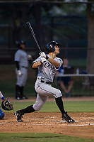 AZL White Sox third baseman Micah Coffey (15) follows through on his swing during an Arizona League game against the AZL Dodgers at Camelback Ranch on July 7, 2018 in Glendale, Arizona. The AZL Dodgers defeated the AZL White Sox by a score of 10-5. (Zachary Lucy/Four Seam Images)