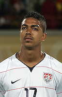 The United States' Bryan Arguez (17)  stands on the field before the match against South Korea during the FIFA Under 20 World Cup Group C match between the United States and South Korea at the Mubarak Stadium on October 02, 2009 in Suez, Egypt.