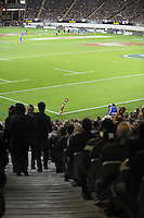 A general view from the grandstand during the international rugby match between the New Zealand All Blacks and France at Eden Park, Auckland, New Zealand on Saturday, 8 June 2013. Photo: Dave Lintott / lintottphoto.co.nz