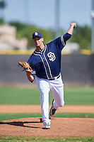 San Diego Padres pitcher Ben Sheckler (49) during an Instructional League game against the Texas Rangers on October 3, 2016 at the Peoria Sports Complex in Peoria, Arizona.  (Mike Janes/Four Seam Images)