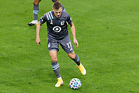 ST PAUL, MN - SEPTEMBER 27: Robin Lod #17 of Minnesota United FC with the ball during a game between Real Salt Lake and Minnesota United FC at Allianz Field on September 27, 2020 in St Paul, Minnesota.