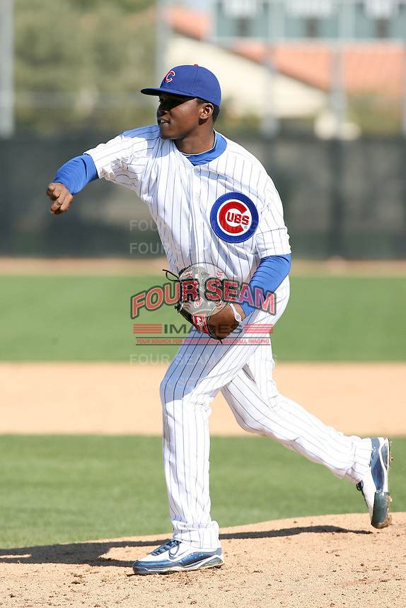 Rafael Dolis. Chicago Cubs spring training workouts at Fitch Park complex, Mesa, AZ - 03/01/2010.Photo by:  Bill Mitchell/Four Seam Images.
