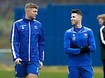St Johnstone Training….19.10.20     <br />Guy Melamed pictured with Liam Gordon taking part in his first training session with his new team mates after completing his 14 day self isolation since arriving from Israel. <br />Picture by Graeme Hart.<br />Copyright Perthshire Picture Agency<br />Tel: 01738 623350  Mobile: 07990 594431