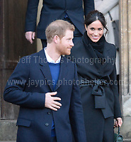 The Royal visit to Cardiff Castle of HRH Prince Harry and Meghan Markle on Thursday 18th January 2018<br /> <br /> <br /> Jeff Thomas Photography<br /> www.jaypics.photoshelter.com<br /> e-mail swansea1001@hotmail.co.uk<br /> Mob: 07837 386244
