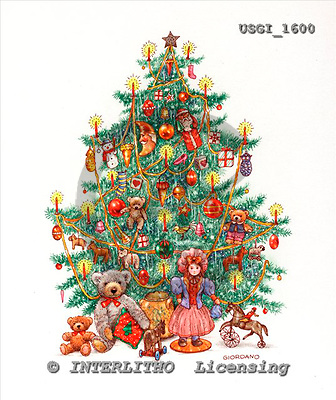 GIORDANO, CHRISTMAS ANIMALS, WEIHNACHTEN TIERE, NAVIDAD ANIMALES, Teddies, paintings+++++,USGI1600,#XA#