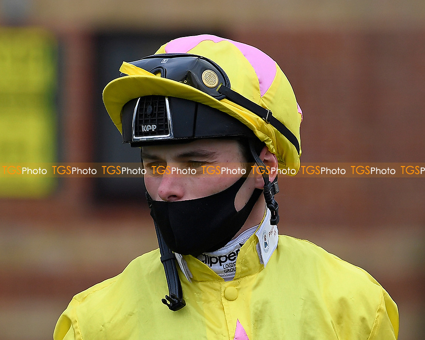 Jockey Kieran Shoemark during Horse Racing at Salisbury Racecourse on 11th September 2020