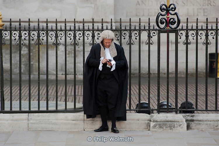 Judges arrive at Westminster Abbey for a service to mark the beginning of the legal year.