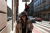 Diese Zagreber Ladies sind immer sehr gut gekleidet für den nachmittäglichen Sonnabendkaffee auf der Hauptpromenade.
