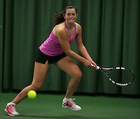 Rotterdam, The Netherlands, 15.03.2014. NOJK 14 and 18 years ,National Indoor Juniors Championships of 2014, Noortje van Leeuwen (NED)<br /> Photo:Tennisimages/Henk Koster