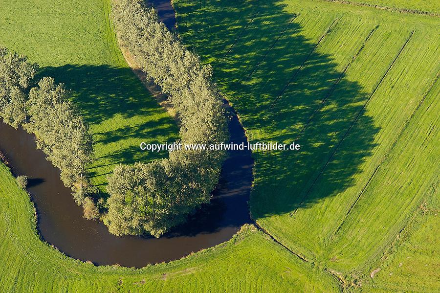 Schwinge: EUROPA, DEUTSCHLAND, NIEDERSACHSEN, STADE  09.09.2004: Schwinge, Fluss, Luftbild, Luftansicht