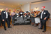 Pictured: The group of lottery millionaires who organised the party. Wednesday 28 November 2018<br /> Re: National Lottery millionaires from south Wales and the south west of England have hosted a glitzy Rat Pack-inspired Christmas party for an older people's music group at The Bear Hotel in Cowbridge, Wales, UK.