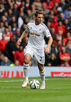 Pictured: Angel Rangel of Swansea. Saturday 16 August 2014<br />