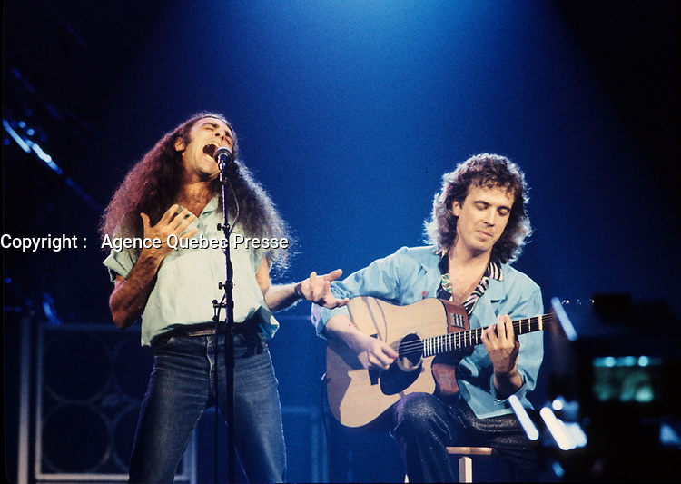 Offenback farewel concert at Montreal s Forum in 1986<br /> spectacle d adieu du groupe Offenbach en 1986 au Forum de Montreal<br /> <br /> Offenbach was formed in Quebec in 1969 by Gerry Boulet, Michael Lamonthe, Jr., and Wezo. The band signed with the independent Barclay label in 1972 and released the French album Offenbach Soap Opera. Four years later, A&M provided a record deal and released the band's self-titled album in 1977. Also released that year was Never Too Tender and another self-titled LP. Lamonthe and Wezo left around that time and were replaced by Pierre Lavoie and Norman Kerr (though Kerr left soon after). In 1979, Offenbach recorded Traversion and added more new members, Breen Leboeuf and John Mcvale. Four more studio albums followed -- En Fusion (1980), Tonnedebrick (1983), Live a Fond D'Train (1984) and Rockorama (1985) -- before the band split up in 1986. Recorded live in Montreal, Offenbach's last album, Le Dernier Show, appeared in 1986. Gerry Boulet recorded two solo albums, Presque 40s in 1984 and Rendezvous Doux in 1988.<br /> <br /> Photo : (c) 1986 Pierre Roussel / Images Distribution