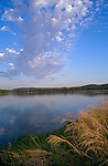 Lower Wisconsin State Wildlife Area, WI<br /> Clouds reflecting on the Wisconsin River - Avoca-Savanna State Natural Area