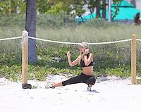 APRIL 27 2013.PETRA BENOVA EXERCISE IN MIAMNon Exclusive.Mandatory Credit: OHPIX.COM..Ref: OH_SOL