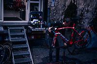 The Trek-Segafredo mechanics cleaning & checking the bikes and cars late into the night after stage 15: Tolmezzo – Sappada (176 km)<br /> <br /> 101th Giro d'Italia 2018