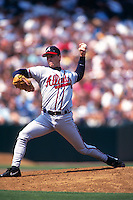 SAN FRANCISCO, CA - Tom Glavine of the Atlanta Braves pitches during a game against the San Francisco Giants at Candlestick Park in San Francisco, California in 1997. Photo by Brad Mangin