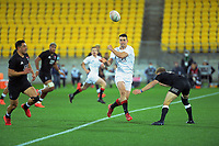South's Will Jordan passes during the rugby match between North and South at Sky Stadium in Wellington, New Zealand on Saturday, 5 September 2020. Photo: Dave Lintott / lintottphoto.co.nz