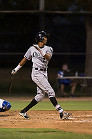 AZL White Sox right fielder Anderson Comas (23) follows through on his swing during an Arizona League game against the AZL Dodgers at Camelback Ranch on July 7, 2018 in Glendale, Arizona. The AZL Dodgers defeated the AZL White Sox by a score of 10-5. (Zachary Lucy/Four Seam Images)