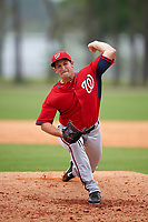 Washington Nationals Robert Orlan (35) during a minor league Spring Training game against the Detroit Tigers on March 28, 2016 at Tigertown in Lakeland, Florida.  (Mike Janes/Four Seam Images)