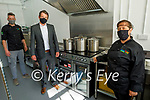 Cooking a storm in the new kitchen in the Presentation NS on Friday. Front right: Siobhan Murphy, Back l to r: TJ Boland (Chef) and John Hickey (Principal)