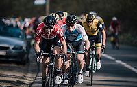 Maxime Monfort (BEL/Lotto-Soudal) 'ripping it up'<br /> <br /> 58th De Brabantse Pijl 2018 (1.HC)<br /> 1 Day Race: Leuven - Overijse (BEL/202km)