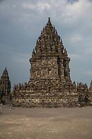 Yogyakarta, Java, Indonesia.  Prambanan Temples.  Brahma Temple.