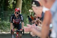 Tosh Van der Sande (BEL/Lotto Soudal) up the infamous Muur van Geraardbergen / Kapelmuur<br /> <br /> 17thBenelux Tour 2021 (2.UWT)<br /> (Final) Stage 7: from Namur to Geraardsbergen (178km)<br /> <br /> ©kramon