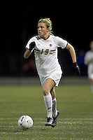 """Boston College forward Kristen Mewis (19) on the attack. Boston College defeated West Virginia, 4-0, in NCAA tournament """"Sweet 16"""" match at Newton Soccer Field, Newton, MA."""